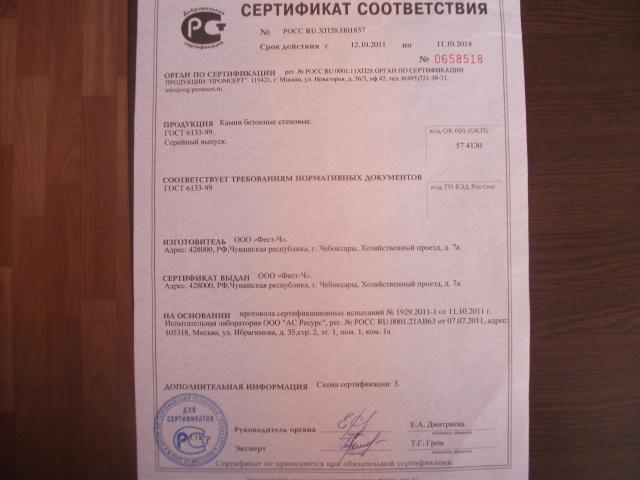 керамзитобетон м100 паспорт качества